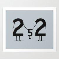 2 + 2 = 5 Art Print