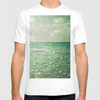 Sea of Happiness Mens Fitted Tee White SMALL