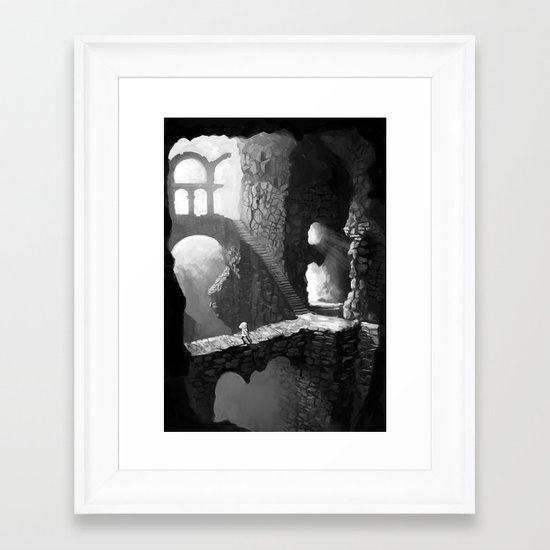 Delve Framed Art Print