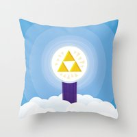 The Creation of Hyrule Throw Pillow
