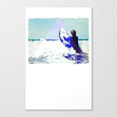 Surfing Devon Canvas Print