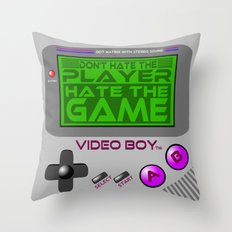 Don't Hate The Player, Hate The Game!  |  Video Game Throw Pillow