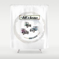 Bill's Garage Shower Curtain