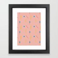 on course (pink) Framed Art Print