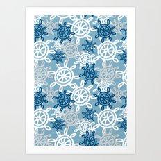 Starboard - steering wheel Art Print