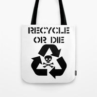 Recycle Black Tote Bag