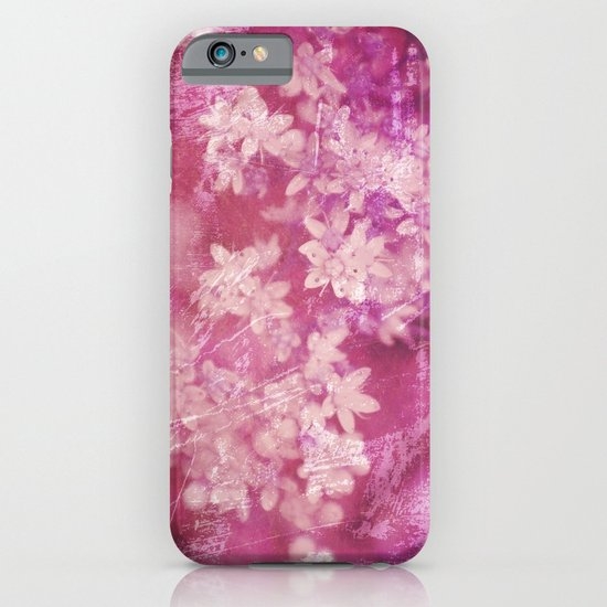 floral grunge pink iPhone & iPod Case