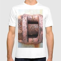 RUST Mens Fitted Tee White SMALL