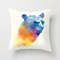 Sunny Bear Throw Pillow