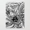 Into The Wild (b&w version) Canvas Print