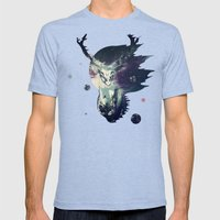 The Lord Between Worlds Mens Fitted Tee Tri-Blue SMALL
