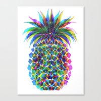Pineapple CMYK Canvas Print