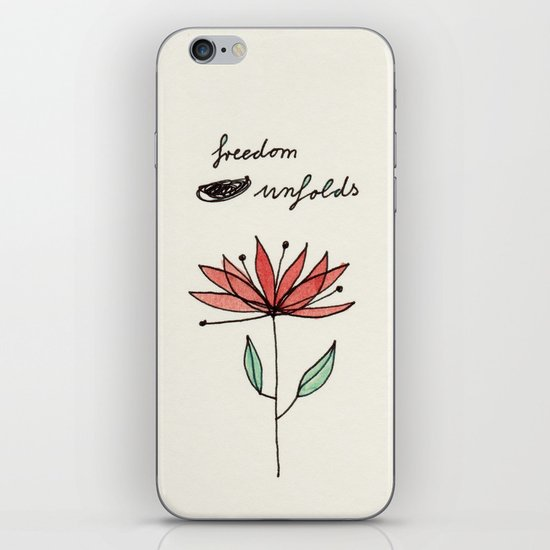 freedom unfolds iPhone & iPod Skin