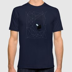 my_spacecat Mens Fitted Tee Navy SMALL