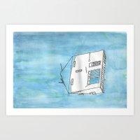 Tsunami House Art Print