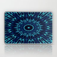 Teal Blue Mandala Laptop & iPad Skin