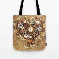 Steampunk Heart Love Tote Bag