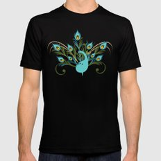 Just a Peacock SMALL Mens Fitted Tee Black