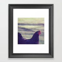 Here Chickie, Chickie Framed Art Print