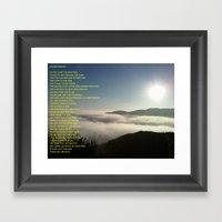 Mountain Poem Framed Art Print