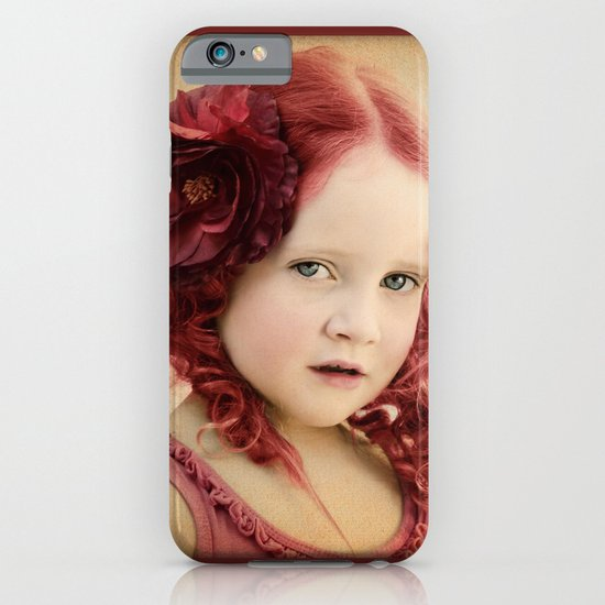Mila as a Vintage Rose iPhone & iPod Case