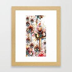Carrot Flowers Framed Art Print