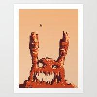 Rabbit Rock Art Print