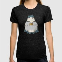 Too Fat To Bat Womens Fitted Tee Tri-Black SMALL
