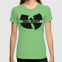 WAL*TANG CLAN Womens Fitted Tee Grass SMALL