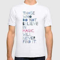 Believe In Magic... Mens Fitted Tee Ash Grey SMALL