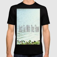 Just Go With the Flow SMALL Mens Fitted Tee Black