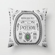 Legend of Zelda Green Chu Potion Advertisement Throw Pillow