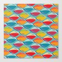 Abstract Shape Repeat Canvas Print