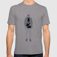 Payaso Mens Fitted Tee Athletic Grey SMALL