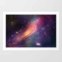 Galaxy Colorful Art Print