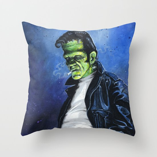 Rebel Frankenstein Throw Pillow