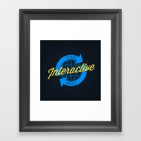 The Interactive Department Framed Art Print