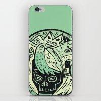 Bubble head - green iPhone & iPod Skin