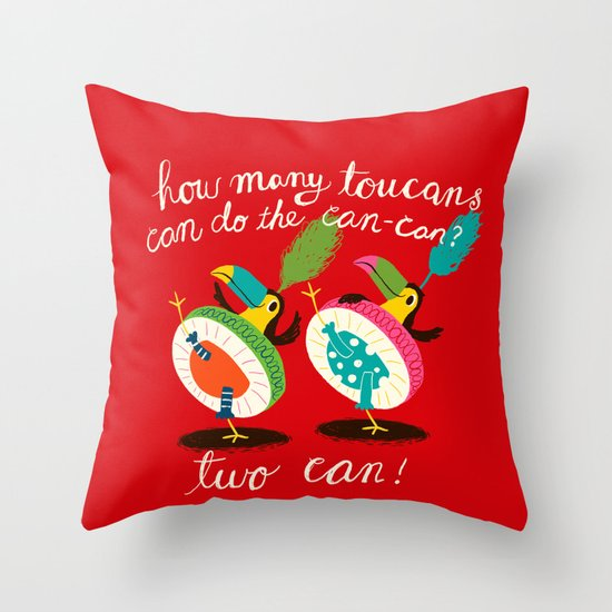 toucan-can Throw Pillow