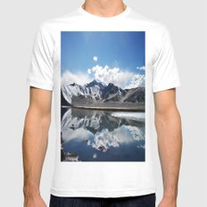 Kunlun Mountains  SMALL White Mens Fitted Tee
