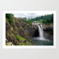 Snoqualmie Falls fine art print Art Print
