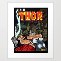 The Mighty Thor, God Of … Art Print
