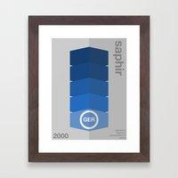 saphir single hop Framed Art Print