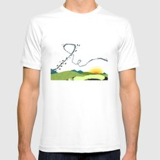 wind blown White Mens Fitted Tee SMALL