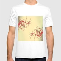Branches#03 Mens Fitted Tee White SMALL