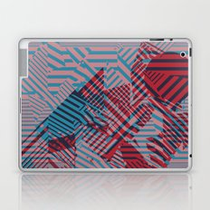 Dazzle Camo #02 - Blue & Red Laptop & iPad Skin