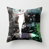 BUBBLE RAIN Throw Pillow