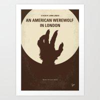 No593 My American Werewo… Art Print