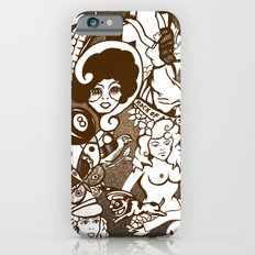 American Traditional Tattoo Collage (Brown) Slim Case iPhone 6s