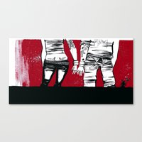 Canvas Print featuring red by serenita